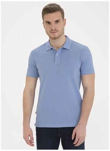 Pierre Cardin Pierre Cardin Erkek Mavi Polo Yaka T-Shirt Mavi